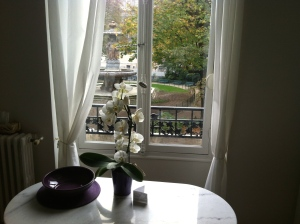 Our little Paris apartment overlooking a small park